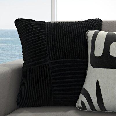 Dante Cotton Throw Pillow Color: Slate, Size: 20 H x 20 W x 4 D