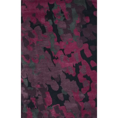 Valentino Wool and Art Silk Hand Tufted Purple/Pink Area Rug Rug Size: 5 x 8
