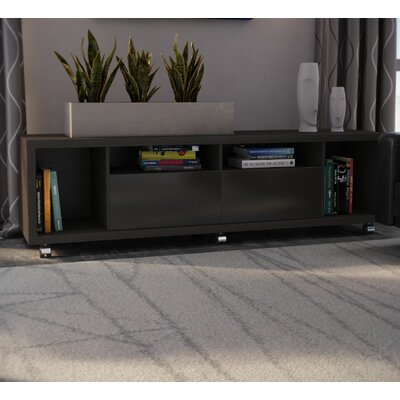 71 Newburyport Wooden TV Stand Color: Black