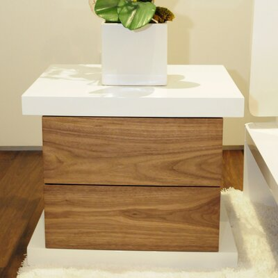 Oden Nightstand Finish: Alabaster/Hazelnut