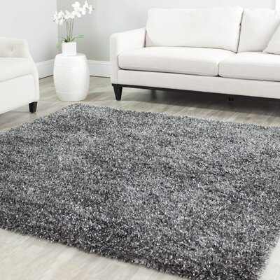 Anna Hand-Tufted/Hand-Hooked Charcoal Area Rug Rug Size: Rectangle 86 x 12
