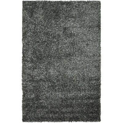 Anna Charcoal Area Rug Rug Size: 5 x 8