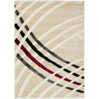 Anna Beige/Multi Stripe Rug Rug Size: Rectangle 8' x 10'