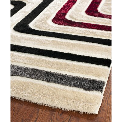 Swanson Beige & Multi Maze Area Rug Rug Size: Rectangle 53 x 76