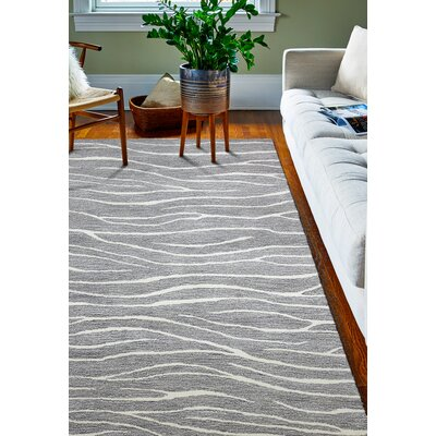 Donnie Hand-Tufted Grey Area Rug Rug Size: Rectangle 86 x 116