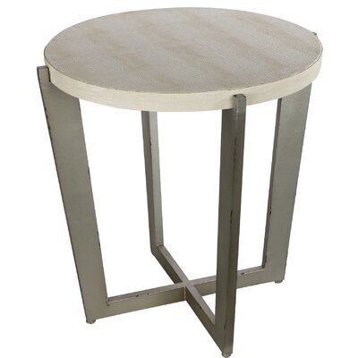 Mae End Table Color: Cream