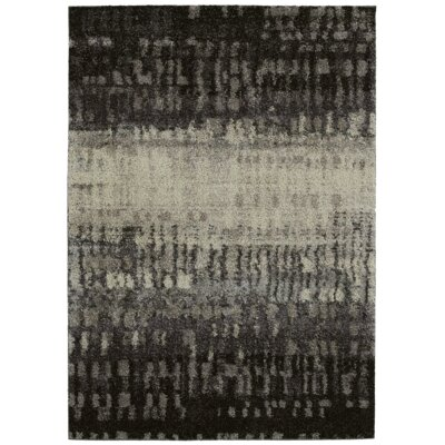 Cateline Black/Gray Area Rug Rug Size: 5 x 8