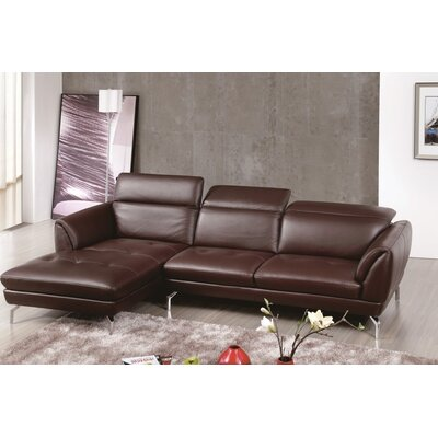 Brinn Reclining Sectional Upholstery: Brown, Orientation: Right Hand Facing