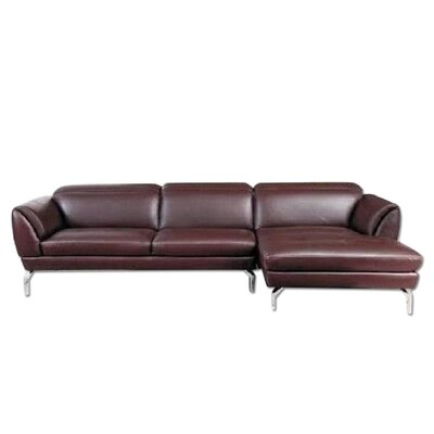Brinn Sectional Upholstery: Brown, Orientation: Right Hand Facing
