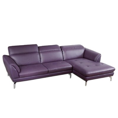 Brinn Sectional Upholstery: Purple, Orientation: Right Hand Facing