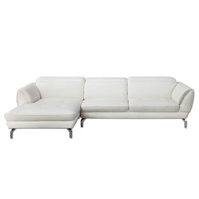 Farrah Sectional Orientation: Left Hand Facing, Upholstery: White