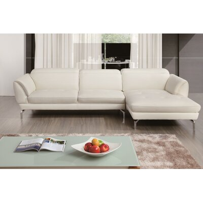Brinn Sectional Upholstery: White, Orientation: Right Hand Facing