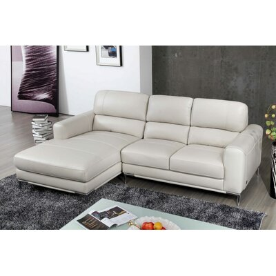 Brousseau Sectional Upholstery: Bone, Orientation: Left Hand Facing