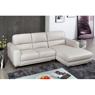 Melinda Sectional Upholstery: Bone, Orientation: Right Hand Facing