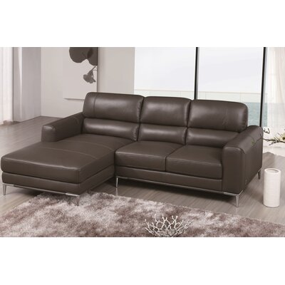 Brousseau Sectional Upholstery: Gray, Orientation: Right Hand Facing