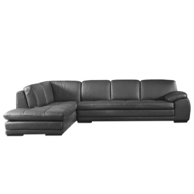 Stockbridge Leather Sectional Upholstery: Brown, Orientation: Right Hand Facing