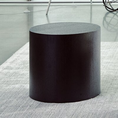 Shannon Round End Table Color: Black
