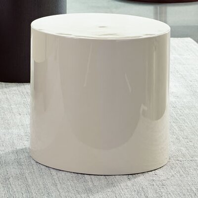 Shannon Round End Table Color: Cream