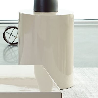 Shannon Round End Table Finish: Cream