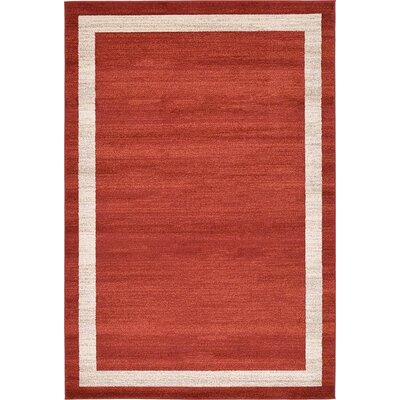 Christi Red/Beige Area Rug Rug Size: Rectangle 9 x 6