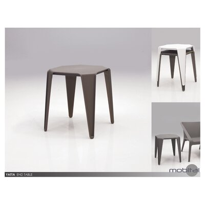 Paige End Table (Set of 4) Finish: Gray
