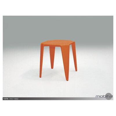 Benetton End Table (Set of 4) Finish: Orange