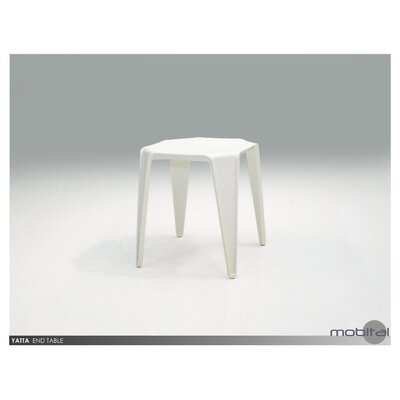 Dyal End Table (Set of 4) Color: White