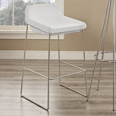 Samoset 29 Bar Stool Upholstery: White