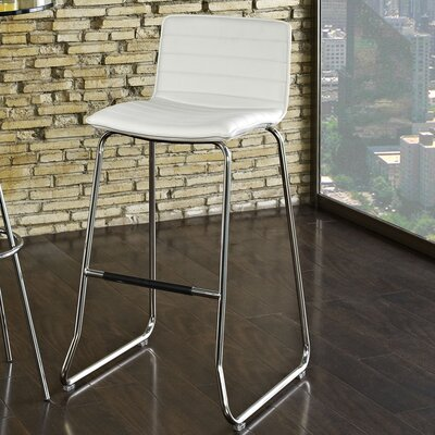 Troy 30.5 Bar Stool Upholstery: White