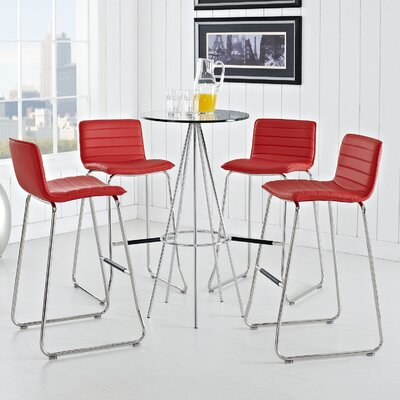 Troy 30.5 Bar Stool Upholstery: Red