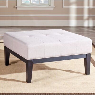 Venice Leather Ottoman Upholstery: Taupe