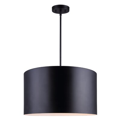 Bartelt 1-Light Drum Pendant Finish: Black
