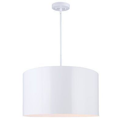 Bartelt 3-Light Drum Pendant Finish: White