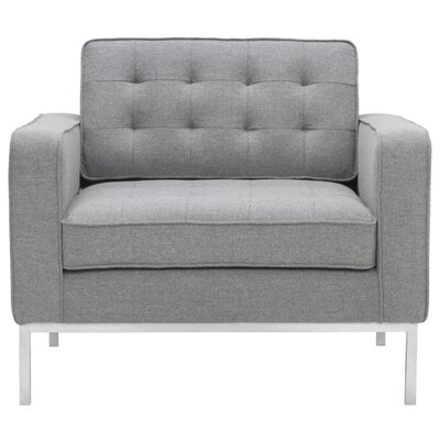 Boricco Armchair Upholstery: Light Gray