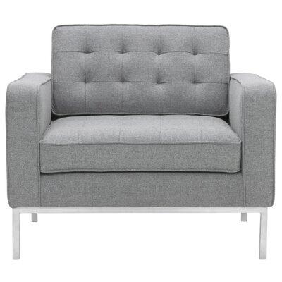 Boricco Arm Chair Color: Light Gray