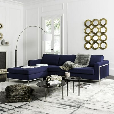 Hadi Reversible Sectional Finish: Navy