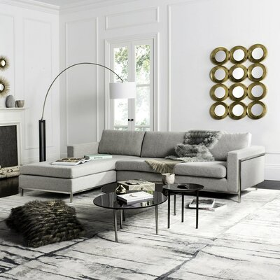 Hadi Reversible Sectional Finish: Stone