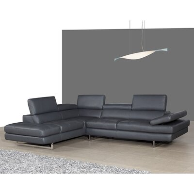 Hugo Sectional Upholstery: Black, Orientation: Left Hand Facing