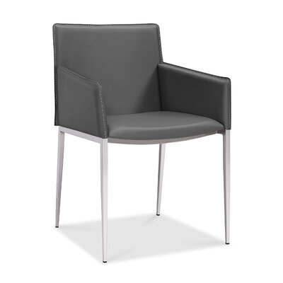 Baran Dining Arm Chair Upholstery: Gray