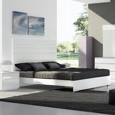 Barcroft Upholstered Platform Bed Finish: White, Upholstery: White, Size: Queen