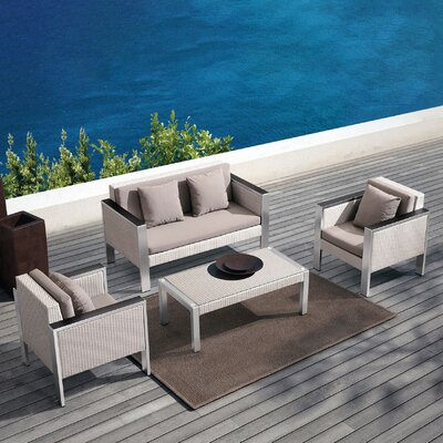 Deandra 4 Piece Deep Seating Group with Cushion