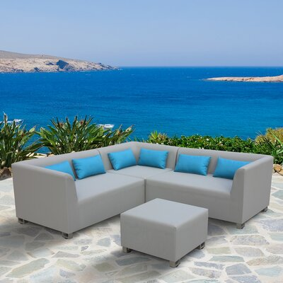 Bugg 4 Piece Sectional Seating Group with Cushions