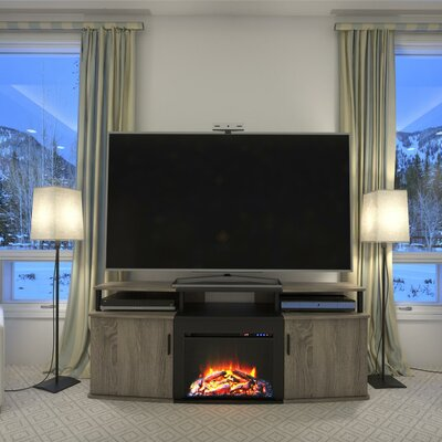 Elian 63 TV Stand with Fireplace Color: Sonoma Oak / Black