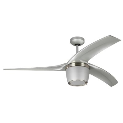 56 Sandra 3 Blade Ceiling Fan with Remote Finish: Gray
