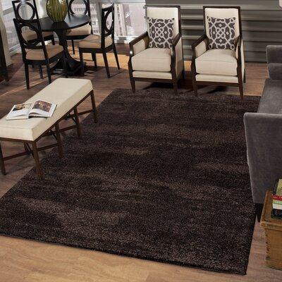 Cedric Landscape Jet Brown Area Rug