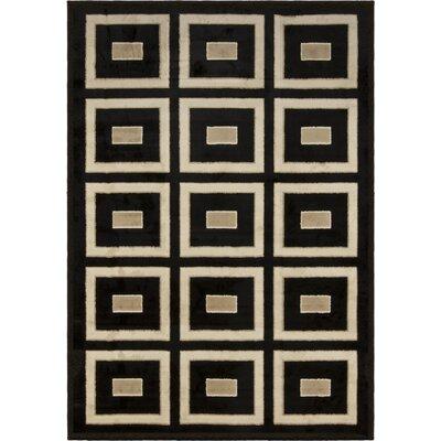 Berger Black/Beige Area Rug Rug Size: 710 x 1010