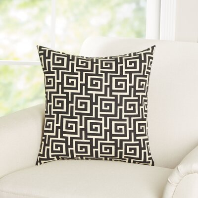 Arthurs Cotton Throw Pillow Color: Black / Creme, Size: 24 x 24