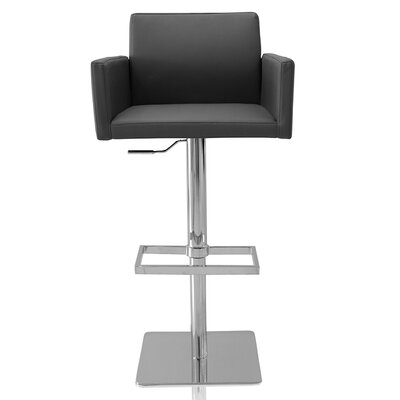 Elliott Adjustable Height Swivel Bar Stool Color: Gray
