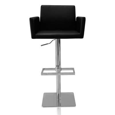 Elliott Adjustable Height Swivel Bar Stool Color: Black