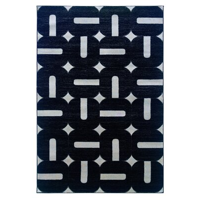 Butler Black/Gray Area Rug Rug Size: Rectangle 5 x 77
